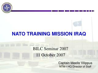 NATO TRAINING MISSION IRAQ