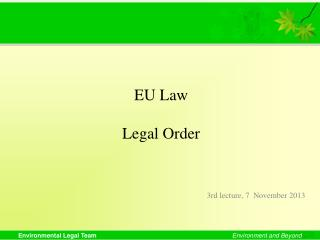 EU Law Legal Order