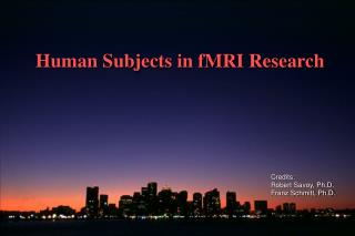 Human Subjects in fMRI Research