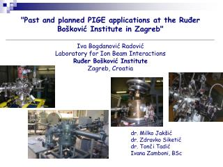 """Past and  planned  PIGE applications at the Ruđer Bošković Institute in Zagreb"""