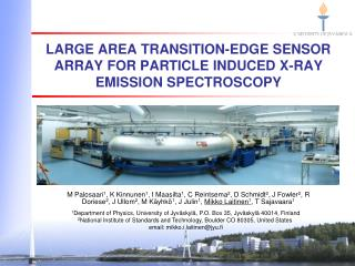 Large area transition-edge sensor array for particle induced X-ray emission spectroscopy