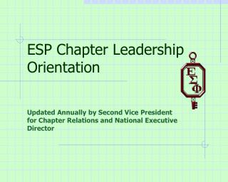 ESP Chapter Leadership Orientation