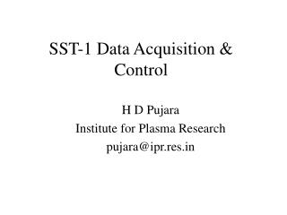 SST-1 Data Acquisition & Control
