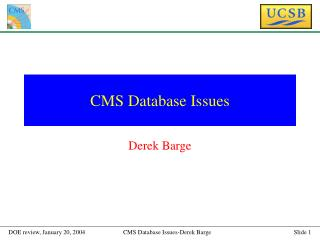 CMS Database Issues