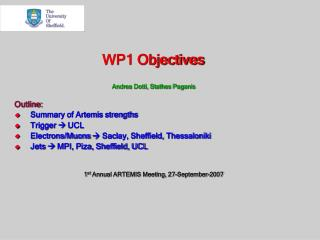 WP1 Objectives