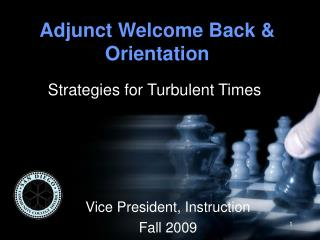 Adjunct Welcome Back & Orientation