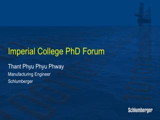 Imperial College PhD Forum