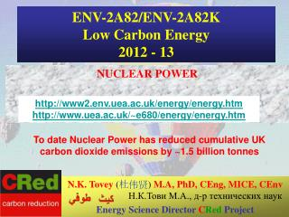 ENV-2A82/ENV-2A82K Low Carbon Energy 2012 - 13