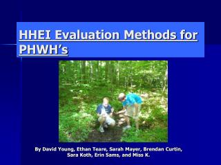 HHEI Evaluation Methods for PHWH's