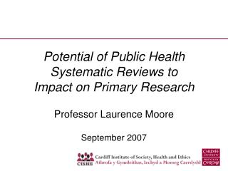 Potential of Public Health Systematic Reviews to Impact on Primary Research
