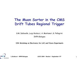 The Muon Sorter in the CMS Drift Tubes Regional Trigger