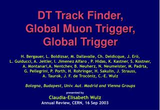 Drift Tube Trigger Track Finder