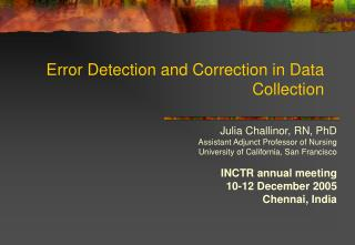 Error Detection and Correction in Data Collection