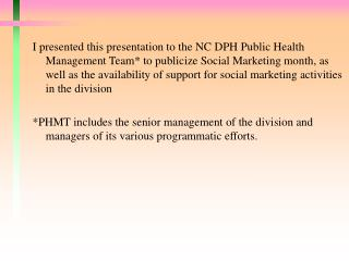 Social Marketing in Public Health Month