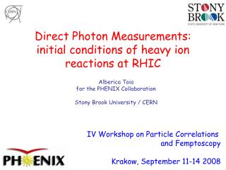 Direct Photon Measurements: initial conditions of heavy ion reactions at RHIC