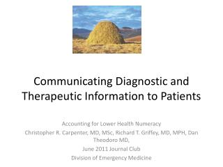 Communicating Diagnostic and Therapeutic Information to Patients