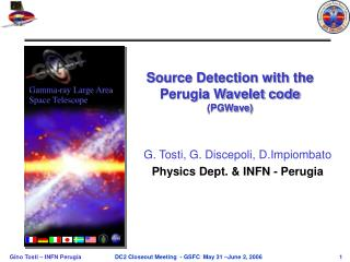 Source Detection with the Perugia Wavelet code   (PGWave)