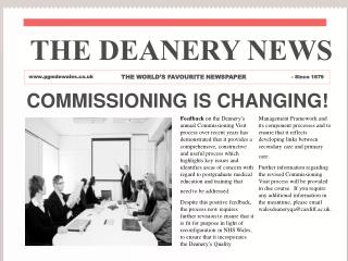 COMMISSIONING IS CHANGING!