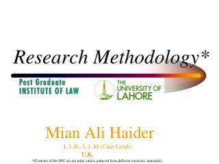 Research Methodology*