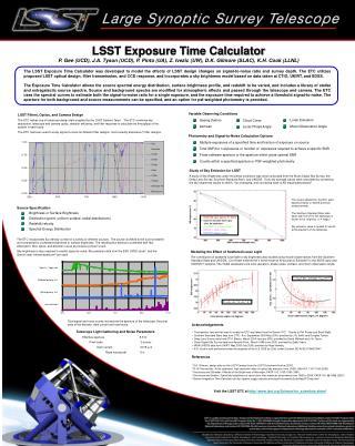 LSST Exposure Time Calculator