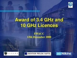 Award of 3.4 GHz and 10 GHz Licences