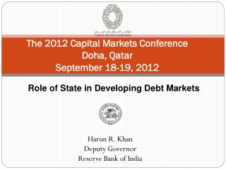 The 2012 Capital Markets Conference  Doha, Qatar September 18-19, 2012