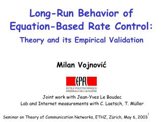 Long-Run Behavior of Equation-Based Rate Control: Theory and its Empirical Validation