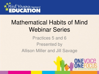Mathematical Habits of Mind Webinar Series