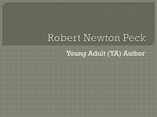 Robert Newton Peck