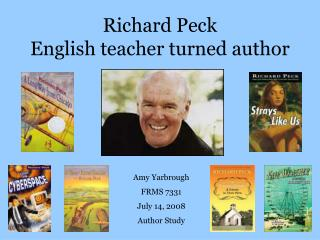 Richard Peck English teacher turned author