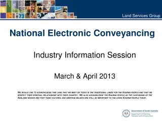 National Electronic Conveyancing