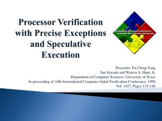 Processor Verification with Precise Exceptions and Speculative Execution