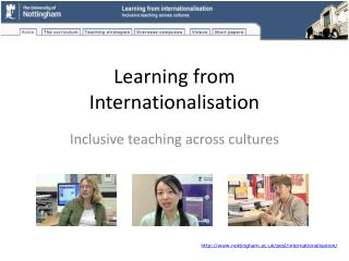 Learning from Internationalisation