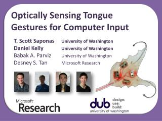 Optically Sensing Tongue Gestures for Computer Input
