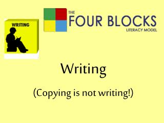 Writing (Copying is not writing!)