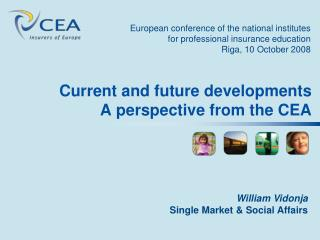 Current and future developments A perspective from the CEA