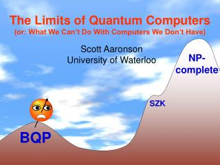 The Limits of Quantum Computers or: What We Can t Do With Computers We Don t Have