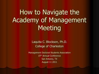 How to Navigate the Academy of Management Meeting