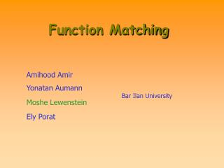 Function Matching