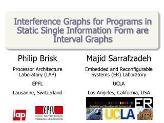 Interference Graphs for Programs in Static Single Information Form are Interval Graphs