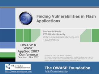 Finding Vulnerabilities in Flash Applications
