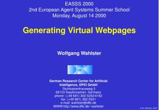 Generating Virtual Webpages