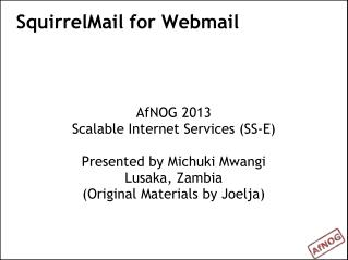 SquirrelMail for Webmail