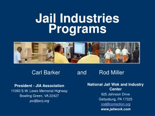 Jail Industries Programs