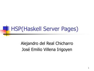 HSP(Haskell Server Pages)
