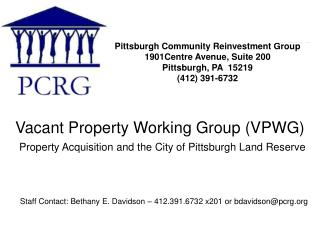 Vacant Property Working Group (VPWG)