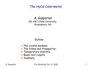 The HyCal Calorimeter