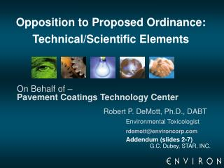 Opposition to Proposed Ordinance:  Technical/Scientific Elements