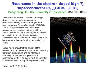 We have used inelastic neutron scattering to  discover the magnetic resonance in