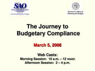 The Journey to   Budgetary Compliance